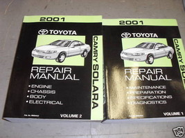2001 Toyota Camry Solara Service Repair Shop Workshop Manual Set Brand New - $242.55