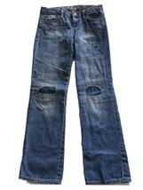Gap Kids Gap Denim Girls Distressed Denim Blue Jeans with Patches Size 10 R - $18.27