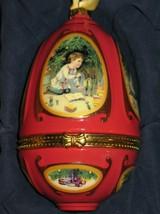 """Mr. Christmas Musical Ornament Egg Victorian Art """"O Little Town Of Bethlehem"""" - $13.33"""