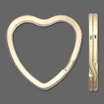 100 KEY RINGS~Heart Shape 32mm Split-Ring ~GOLD Metal - $27.71
