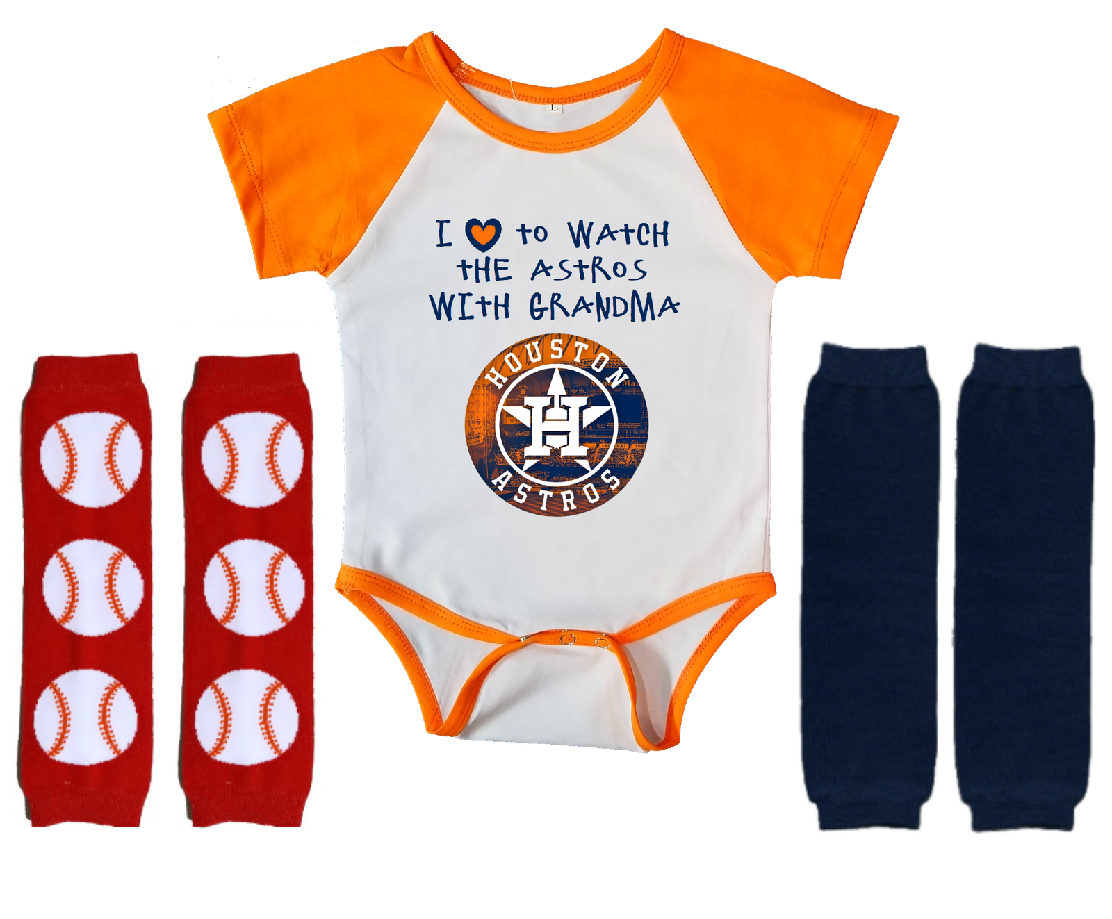 Primary image for Houston Astros Onesie Infant Bodysuit Watch With Grandma