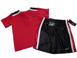 NEW Nike Toddler Boys  2-piece Red  Short Set Size 2T - $18.27
