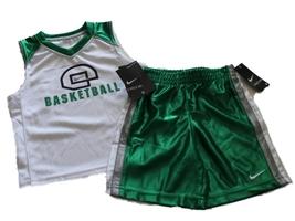 NEW Nike Toddler Boys Basketball Court Green 2-piece Short Set Size 2T - $18.27