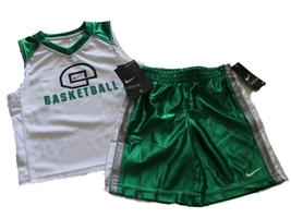 NEW Nike Toddler Boys Basketball Court Green 2-piece Short Set Size 3T - $18.27