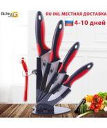 Ceramic Knife Kitchen 3 4 5 6 inch Chef Knives Holder With Peeler White ... - $86.32+
