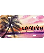 PERSONALIZED LICENSE PLATE CUSTOM CAR TAG WATERCOLOR TROPICAL BEACH  - $13.70