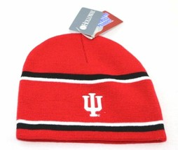 Indiana Hoosiers NCAA Engager Beanie Hat, One Size, Scarlet/Black/White  - $18.80