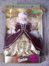 Vintage 1996 Happy Holidays Special Edition Burgundy Dress Barbie  - $40.00