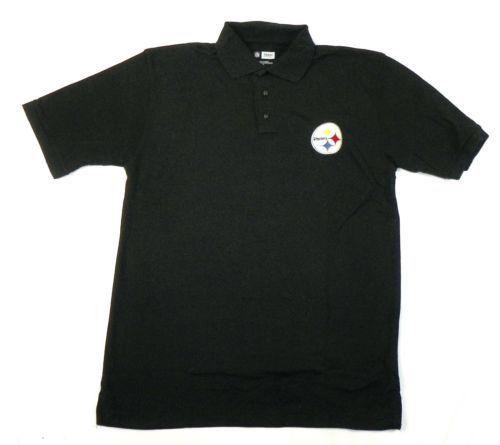 Pittsburgh Steelers Polo Men's NFL Wordmark Logo Shirt Football NEW