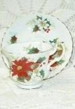 ENGLAND Royal Albert Poinsettia TEA CUP AND SAUCER - $84.14