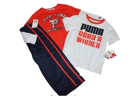 New  Puma Kids 3pc Boys Athletic Outfit Set Long and Short Sleeve Top Pa... - $27.29
