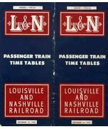 L & N Passenger Train Time Tables Dated December 16, 1955 Railroad Vintage - $14.00