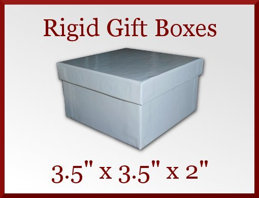 12 White Gloss Rigid Bracelet Gift Boxes 3.5 x 3.5 x 2 in Jewelry Retail