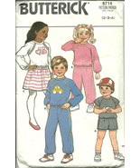 Play Clothes Butterick Sewing Pattern Girls Boys Unisex Size 2 3 4 Vintage - $6.92