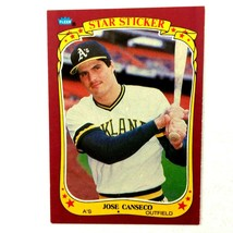 Jose Canseco 1986 Fleer Star Sticker Rookie Card #19 MLB Oakland Athletics - $1.93