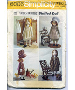 1973 Holly Hobbie Stuffed Doll Pattern; Simplicity 6006 - $5.95