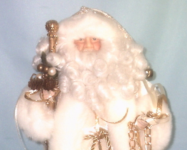 HOLD 4 BONNIE Santa Tree Topper Christmas Collectible