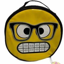 Emojination Insulated Lunch Bag Brace Face Emoji Tote  - $13.86