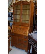 Early 1900's Quartersawn Oak Drop Front Secreta... - $1,310.10
