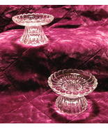 Scalloped Crystal Candle Holders for Votives or Candlesticks - $16.99