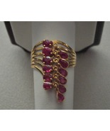 14k Ruby Charm Ring Dangle Ring 3 carats Movabl... - $349.00