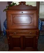 Walnut Carved Drop Front Desk w/ Birdseye Maple Accents - $1,399.00