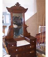 Walnut Eastlake Marble Top Dresser with Mirror - $1,161.00