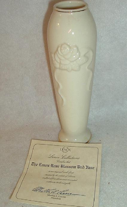 Lenox Rose Decoration Bud Vase With Coa And 41 Similar Items