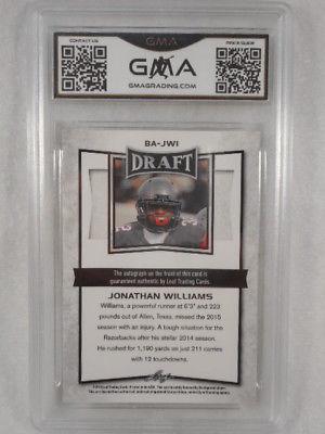 2016 Leaf Metal Draft JW Jonathan Williams Prizmat Auto Rookie GMA Graded Gem 10