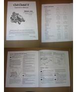 Cub Cadet Series 1000 Hydrostatic Lawn Tractor Operator's Manual - $10.00