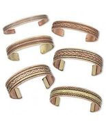 Lot 10 COPPER + Brass BRACELET CUFFS ~Arthritis Therapy - £35.19 GBP