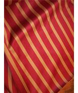 Gold/Burgundy Stripe Fabric/Upholstery Fabric R... - $49.95