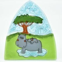 Fused Art Glass Hippopotamus Hippo Nightlight Night Light Handmade in Ecuador image 2