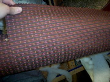 Primary image for Burgundy/Gold Print Fabric/Upholstery Fabric