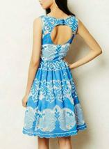 Anthropologie Azure Lace Dress Plenty by Tracy Reese Sz 0P image 5