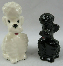 Vintage GOEBEL W.GERMANY Black & White FRENCH POODLE Figurine KT161 - $45.00