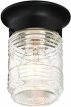 Design House 587220 Jelly Jar 1-Light Indoor/Outdoor Ceiling Light, Black  - $14.18