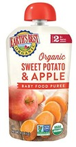 Earth's Best Organic Stage 2, Sweet Potato & Apple, 4 Ounce Pouch Pack of 12