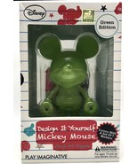 Mickey Mouse Design It Yourself Vinyl Art Figure Green Edition by Disney - $34.64