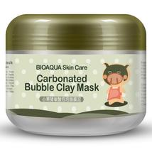 BIOAQUA Kawaii Black Pig Carbonated Bubble Clay Mask Winter Deep Cleaning Moistu - $9.18