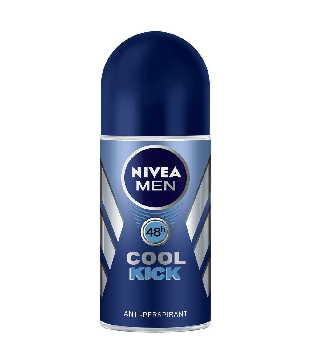 Nivea Cool Kick Roll On  Long - Lasting Freshness For Men Deodorant - (50 ML)