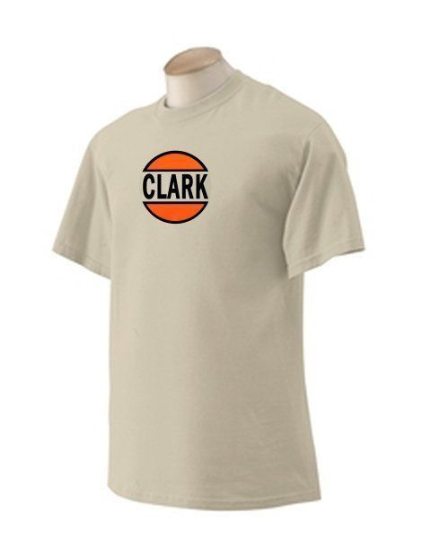 Clark Gasoline T-shirt  Decal Signs Motor Oil Gas Globes
