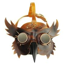 Reenactment Plague Doctor Steampunk Bird Leather Mask Halloween Gothic Cosplay image 4