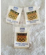 1992 Olympic Games USA Pins New in Original Packaging Lot of 3 - $13.85