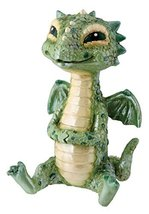 YTC Green Baby Dragon Collectible Serpent Figurine Statue Reptile Statue - $10.88