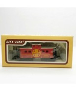 Vintage HO Scale Life-Like Santa Fe Caboose Car Train #8542 In Box - $19.24