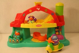 Playskool Weebles Green Red Yellow Barn dance playground playset 3 weebles trike - $74.95