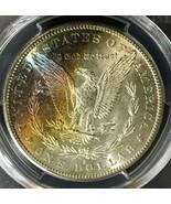 1880-S Morgan Silver Dollar Rainbow Toning PCGS  MS65 - $246.51