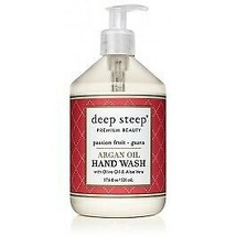 Argan Oil Hand Wash Passion Fruit Guava Deep Steep 17.6 oz Liquid - $8.86