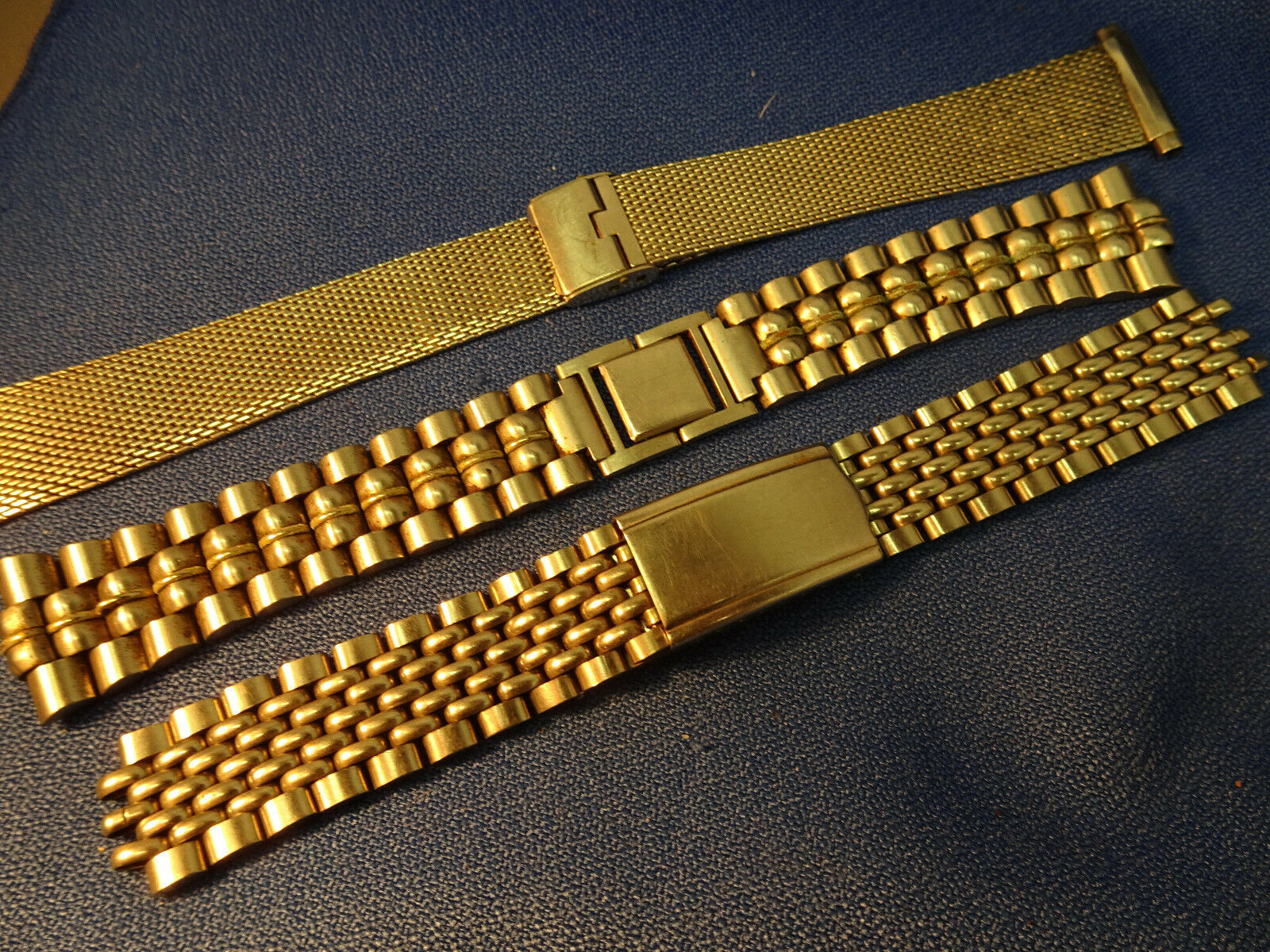 Primary image for LOT OF 3 VINTAGE 1970'S STAINLESS STEEL WATCHBANDS FOR RESTORATIONS